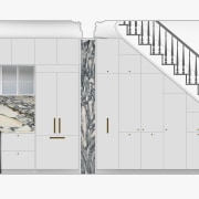 Kitchen elevation of the new design. - Flowing