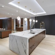 The kitchen forms part of an open-plan living/dining