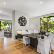 An array of indoor and outdoor living spaces