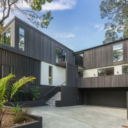 The exterior materials were carefully selected to allow