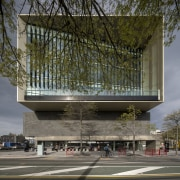Christchurch Central Library – a celebration of culture architecture, building, condominium, corporate headquarters, facade, headquarters, house, landmark, metropolis, metropolitan area, mixed use, residential area, structure, tree, gray, brown