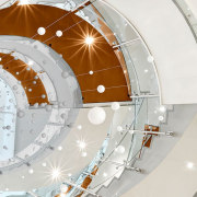 Colorado State University4 - architecture | ceiling | architecture, ceiling, circle, daylighting, space, stairs, white