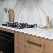 Wood and stone make for natural companions in