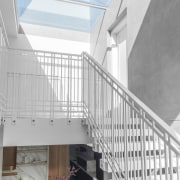 A skylight draws natural light directly into the