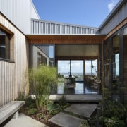 Whatever the prevailing wind the courtyard at the