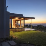A beautiful sunset enjoyed from the home's private