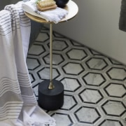 The clients wanted to create a striking ensuite