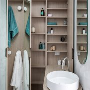 Compartmentalised storage offers a place for everything.
