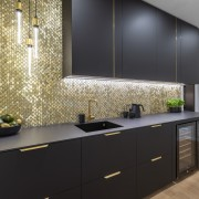 Buster and punch pendants are a feature of