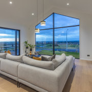 Giant windows maximise natural light and frame the