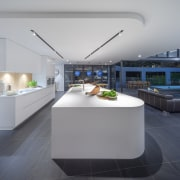 Given the curves, Corian was the clear choice