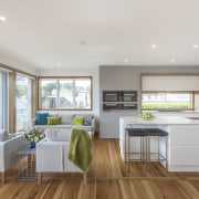 2018 TIDA New Zealand Designer Kitchen Highly Commended floor, interior design, kitchen, living room, real estate, window, gray