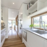 2018 TIDA New Zealand Designer Kitchen Highly Commended countertop, daylighting, floor, home, house, interior design, kitchen, property, real estate, room, gray