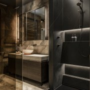 The folds and planes of the shower niches