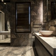 Marble vanity tops find harmony with the veined