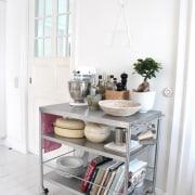 See more floor, furniture, home, living room, product, shelf, shelving, table, white