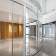 Dow Planetarium 2 - architecture | building | architecture, building, ceiling, daylighting, door, floor, flooring, glass, hall, headquarters, house, interior design, lobby, office, property, real estate, room, space, transparent material, wall, window, gray