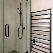 The completely reorganised bathroom also allowed for a