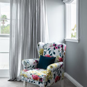 A Designers Guild floral pattern on this armchair