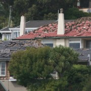 Earthquake 2 - cottage | estate | facade cottage, estate, facade, home, house, mansion, neighbourhood, outdoor structure, property, real estate, residential area, roof, suburb, window, black, gray