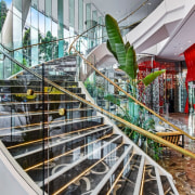 Emporium Hotel 2 - architecture | building | architecture, building, handrail, plant, real estate, stairs, gray