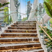 Emporium Hotel 5 - architecture | botanical garden architecture, botanical garden, botany, building, condominium, garden, greenhouse, house, houseplant, plant, property, real estate, roof, room, stairs, vegetation, gray, brown