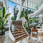 Emporium Hotel 6 - architecture | building | architecture, building, condominium, facade, interior design, lobby, mixed-use, property, real estate, room, stairs, urban design, gray