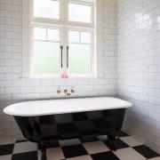 Ensuite 2 bathroom, floor, flooring, home, interior design, plumbing fixture, room, sink, tile, wall, window, gray, white