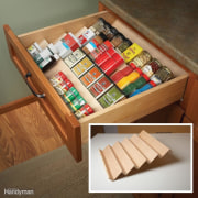 See more bookcase, box, drawer, furniture, kitchen organizer, shelf, shelving, table, wood, wood stain, brown