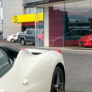 Ferrari Showroom 5 - automotive design | car automotive design, car, coupé, land vehicle, luxury vehicle, race car, sports car, supercar, vehicle, gray, white