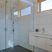 The master ensuite is private yet light filled,