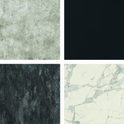 ​​​​​​​Florim Stone options include (clockwise from top left) black, white, gray, Florim Stone, Archant