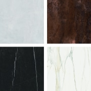 ​​​​​​​Florim Stone options include (clockwise from top left) Benchtop, Florim Stone, Archant, Countertop