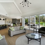 The high ceilings add to the spacious feel