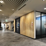 Smartemp HSC-FD Fixed Helical Swirl Diffusers were part architecture, building, ceiling, commercial building, design, facade, floor, flooring, glass, hall, house, interior design, lighting, lobby, office, property, real estate, room, wall, gray