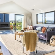 The living area – complete with beautiful raked