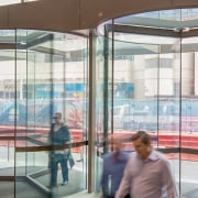 George Place 03 - architecture | building | architecture, building, door, facade, glass, interior design, revolving door, transparent material, window, window film, gray