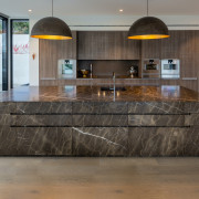Every facet of the kitchen's substantial island is