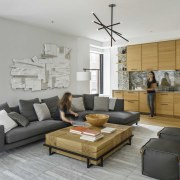 The interior choices work together to create a