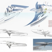 Harmonic Hotel 8 - artwork | automotive design artwork, automotive design, design, diagram, drawing, fin, fish, font, graphics, illustration, line, marine mammal, organism, propeller, sketch, wing, white