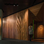 WINNER: He Tohu Document Centre - architecture | architecture, night, wood, black, brown