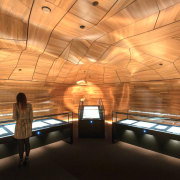 He Tohu Document Centre – Resene Supreme Award architecture, ceiling, daylighting, interior design, lighting, recreation room, wood, orange