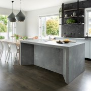 Bold, sculptural and obviously strong, the concrete island