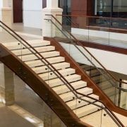 Herriman 1 - architecture | baluster | floor architecture, baluster, floor, flooring, glass, handrail, metal, stairs, gray, brown