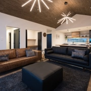 From the wood floors to feature wood ceiling