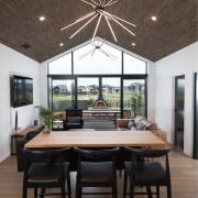 Tall story – two starburst chandeliers draw your