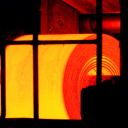 Hot Rolled Steel In The Coil Box line, orange, yellow, black, red