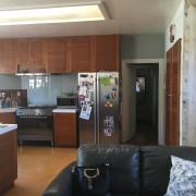 Before – an outdated extension had previously incorporated home, interior design, living room, real estate, room, brown, gray