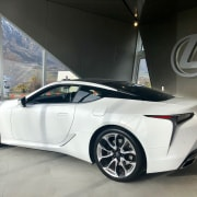 No sibling rivalry in the new one-car showhome automotive design, car, concept car, coupé, land vehicle, lexus, lexus lfa, personal luxury car, rim, sports car, sports sedan, supercar, vehicle, wheel, gray, black