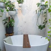 The Victoria + Albert freestanding Quarrycast White tub